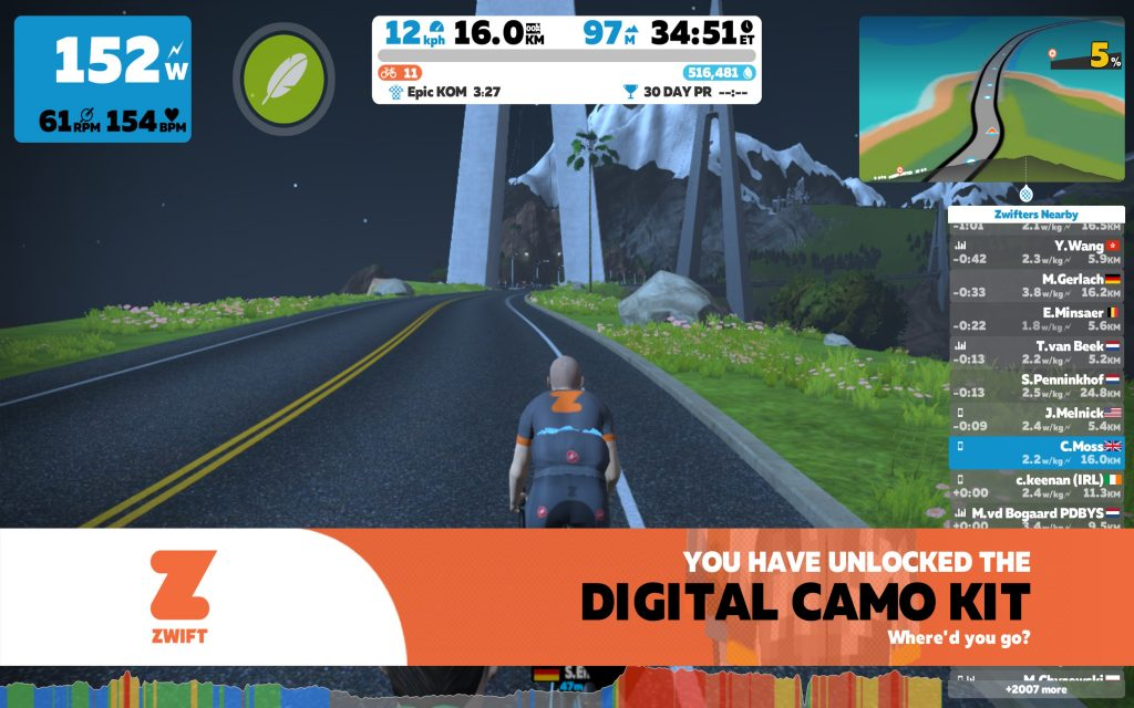 Zwift's Bigger Loop – My First Epic KOM | Cycling Indoors