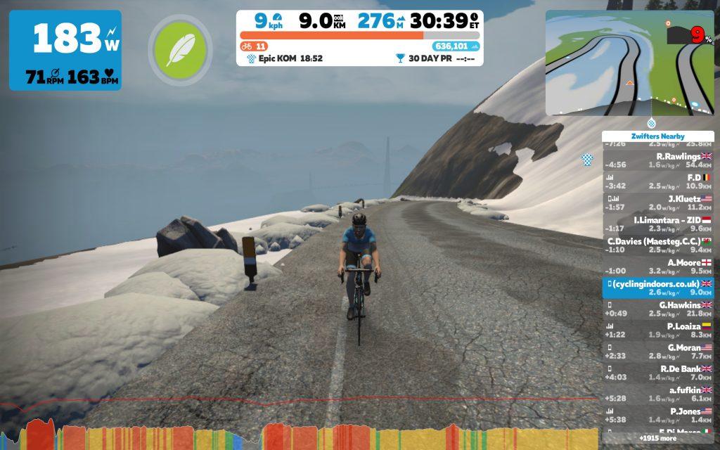 Zwift Mountain 8 – Reverse Epic KOM + Radio Tower Climbs | Cycling