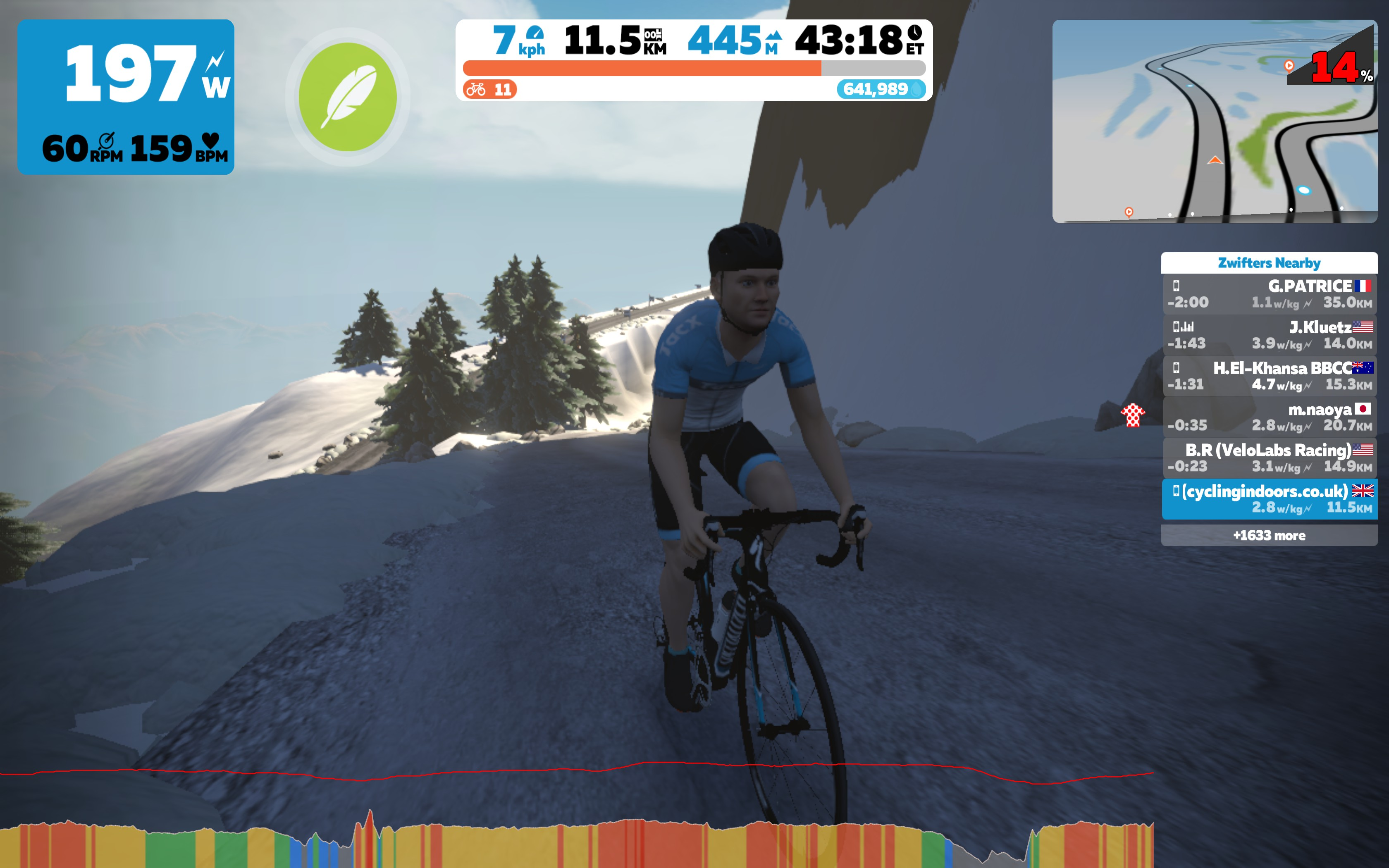 Zwift Mountain 8 – Reverse Epic KOM + Radio Tower Climbs | Cycling