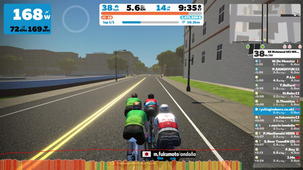 3R Richmond UCI Hilly Race (D) | Cycling Indoors