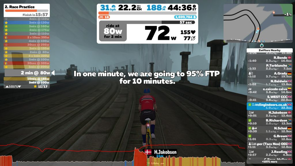 Zwift Academy 2019 Workout #2: Race Practice | Cycling Indoors